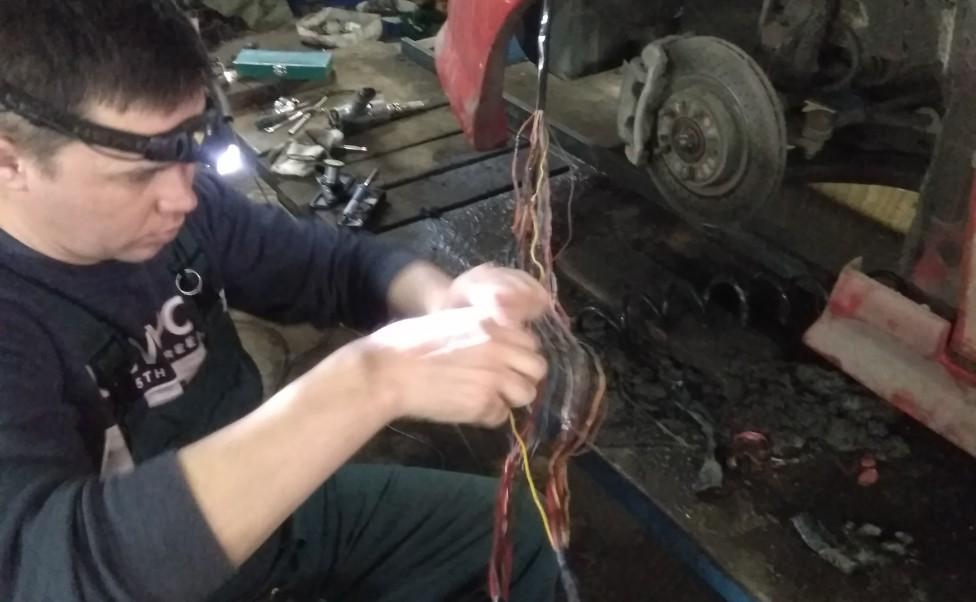 Диагностика и ремонт электропроводки Hyundai Coupe 2005 г.в.
