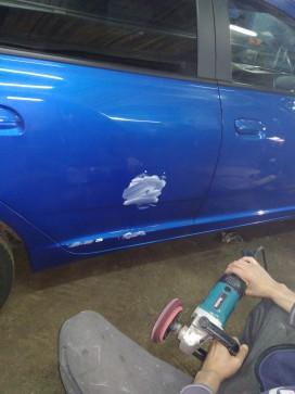 Полировка Chevrolet Aveo после легкого ДТП