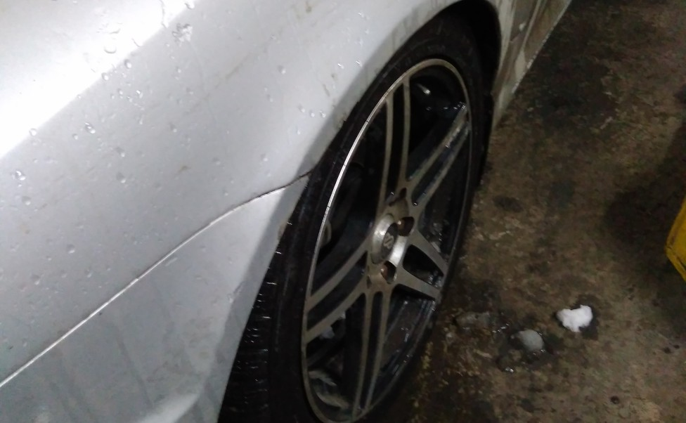 Восстановление подвески Hyundai Coupe после наезда на бордюр